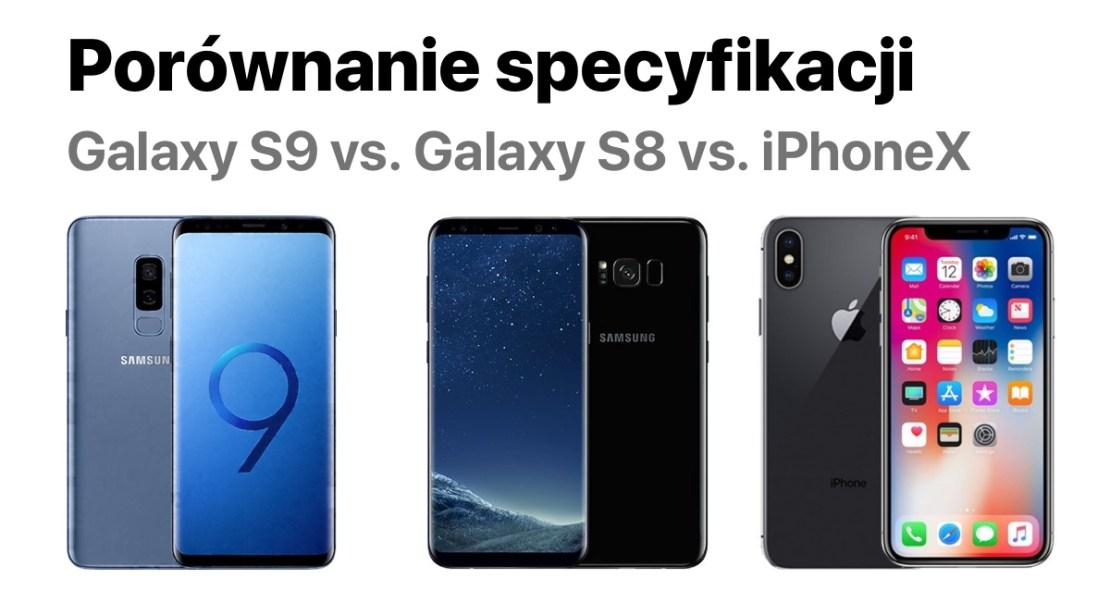 Porównanie specyfikacji technicznej: Galaxy S9 vs. Galaxy S8 vs. iPhone X