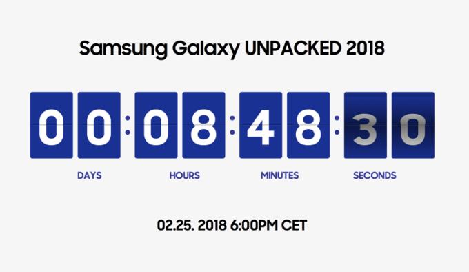 Konferencja Samsung Galaxy S9 Unpacked 2018 (25 lutego 2018 godz. 18.00) - licznik