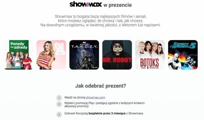 Showmax w prezencie na 3 mies. w Play
