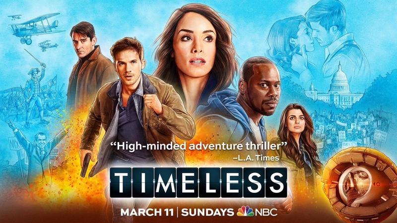 """2. sezon serialu """"Timeless"""" w NBC (11 marca 2018)"""
