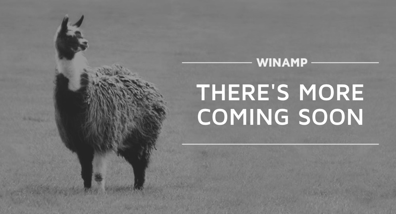 Winamp - there's more coming soon (screen oryginalnej strony)