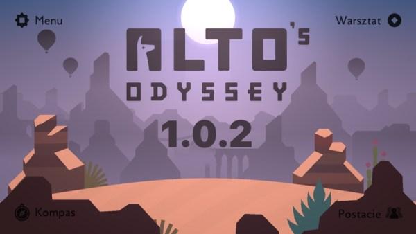 Pierwsza aktualizacja gry Alto's Odyssey (wersja 1.0.2)