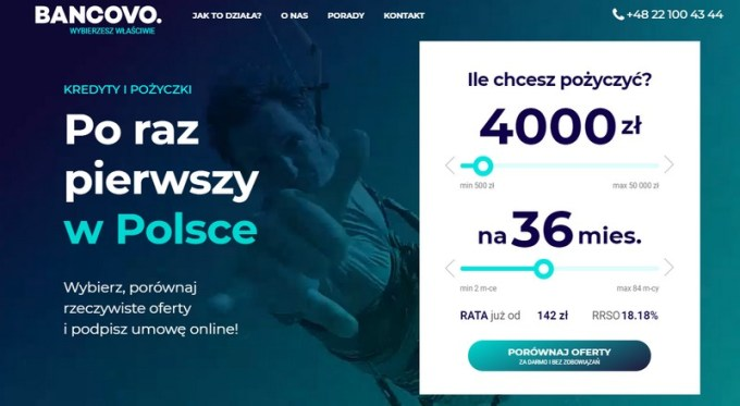 Screen strony Bancovo.