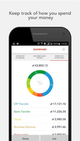 DiPocket - screen aplikacji mobilnej
