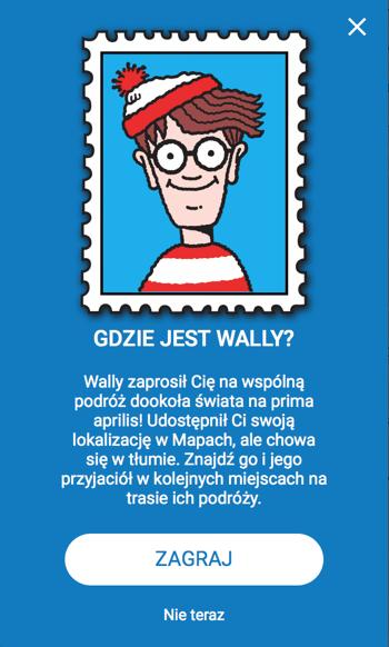 Gdzie jest Wally? w Mapach Google (2018)