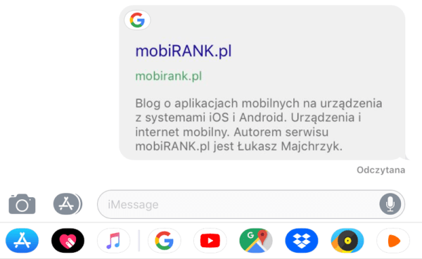 Aplikacja Google ma teraz integrację z iMessage