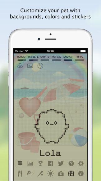 """Screen z aplikacji """"Hatchi"""" iOS"""
