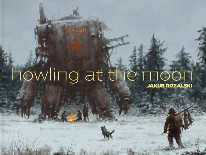 """Howling at the Moon"" - Jakub Różalski"
