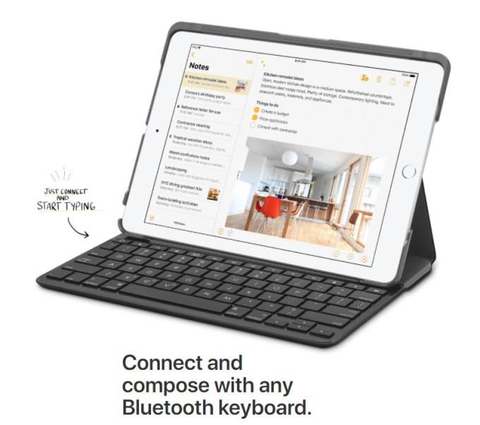 Nowy iPad z klawiatura Bluetooth
