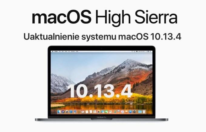 Uktualnienie systemu macOS High Sierra 10.13.4