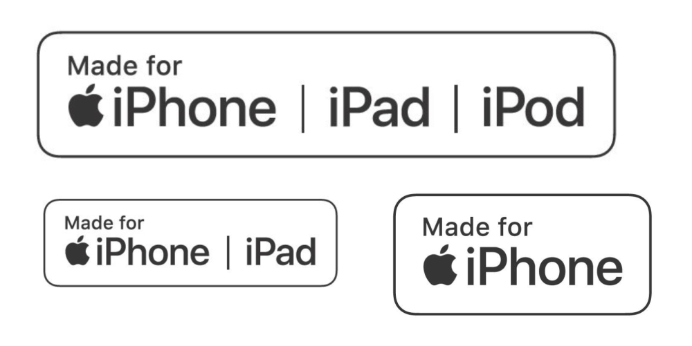 Made for iPhone, iPad, iPod (nowe logo) - MFi
