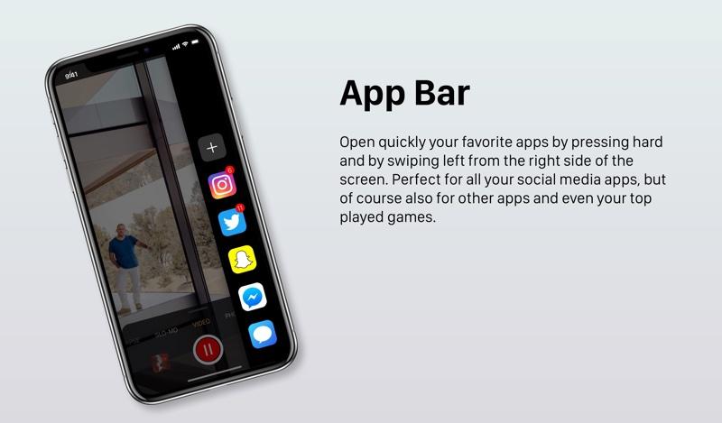 Boczny pasek aplikacji w iPhonie