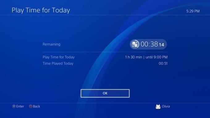 PS4 (software 5.50) - zarządzanie czasem