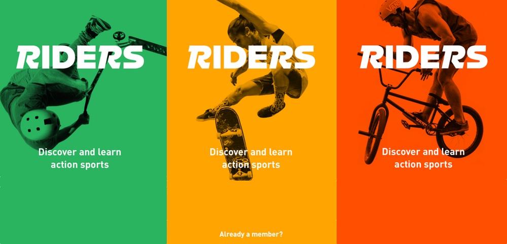 "Aplikacja mobilna ""RIDERS – BMX, Skateboard, and Scooter tricks"""