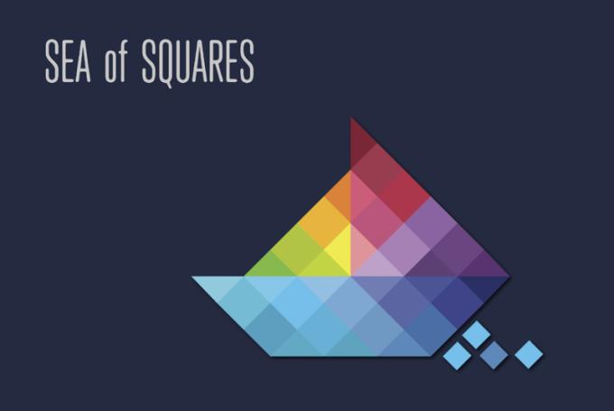 """Logiczna gra mobilna """"Sea of Squares"""""""