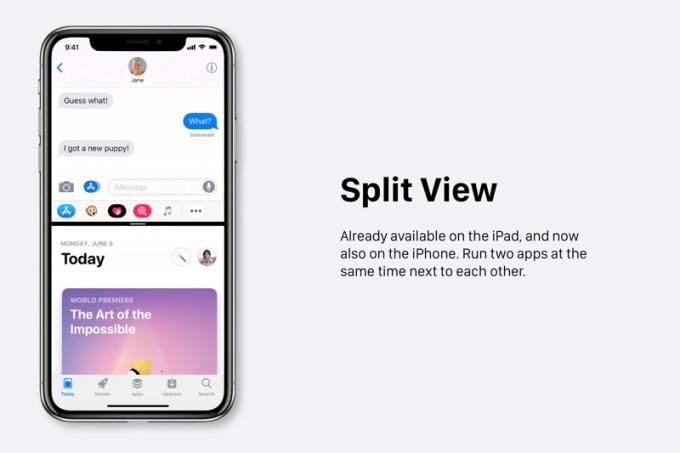 Dzielenie ekranu (Split View) na iPhone'ie