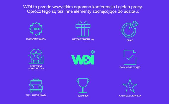 Zalety Warszawskich Dni Informatyki (WDI 2018)