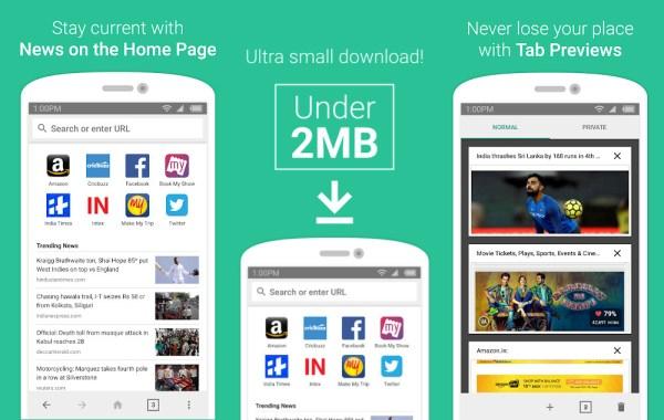 """Lekka przeglądarka mobilna """"Internet"""" na Androida od Amazonu"""