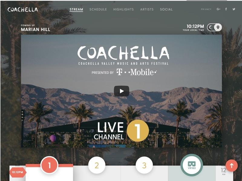 Screen kanału Coachella na YouTube'ie