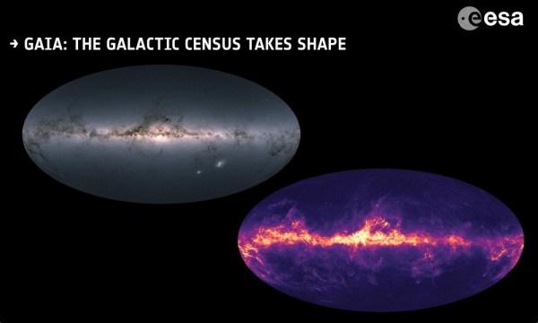 ESA wydała najbardziej szczegółową mapę gwiazd