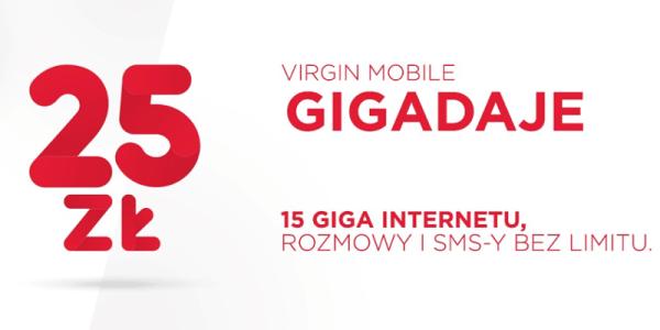 Nowa oferta na kartę Gigadaje (z większą liczbą GB) od Virgin Mobile
