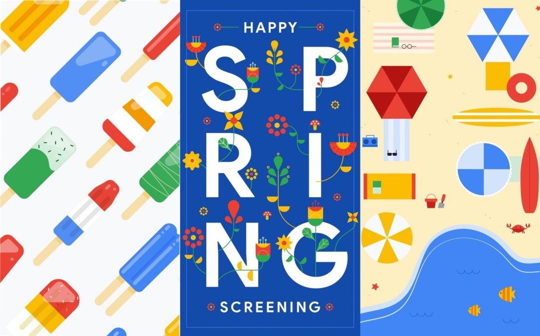 Happy Spring Screening (Google wallpapers)