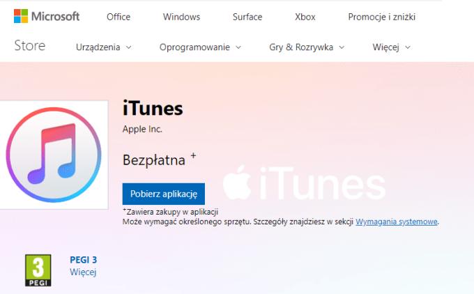 iTunes na Windowsa