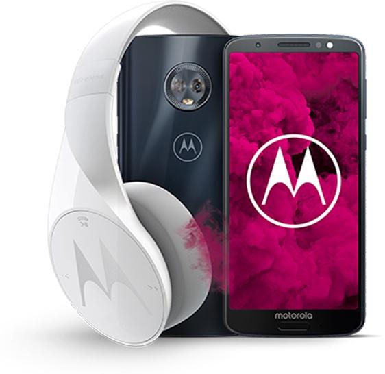 Motorola moto g6 i słuchawki Pulse Excape