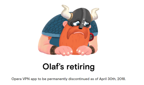 Pożegnaj się z przeglądarką mobilną Opera VPN