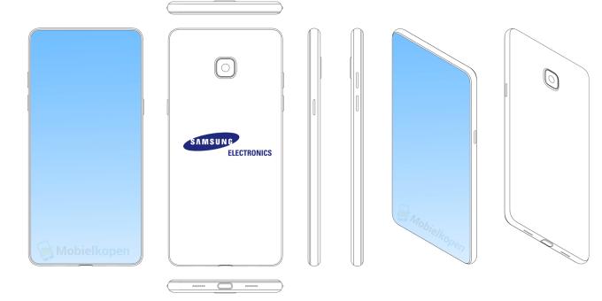 Patent Samsunga smartfon z wyświetlaczem pełnoekranowym