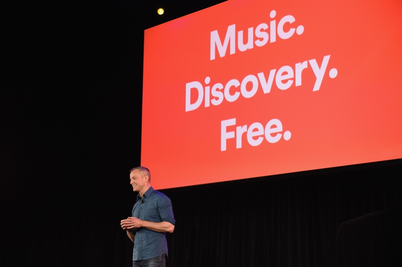 NEW YORK, NY - APRIL 24:  Spotify Chief R&D Officer Gustav Soderstrom introduces Spotifyís new ad-supported mobile version at a news conference at Gramercy Theatre on April 24, 2018 in New York City.  (Photo by Ilya S. Savenok/Getty Images for Spotify) *** Local Caption *** Gustav Soderstrom