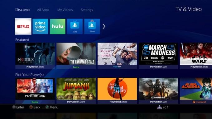 TV & Video (nowa sekcja PS4)