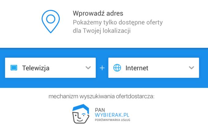 Wyszukiwarka ofert TV z internetem wg adresu