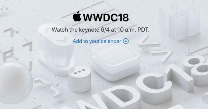 Transmisja online konferencji Apple WWDC 2018