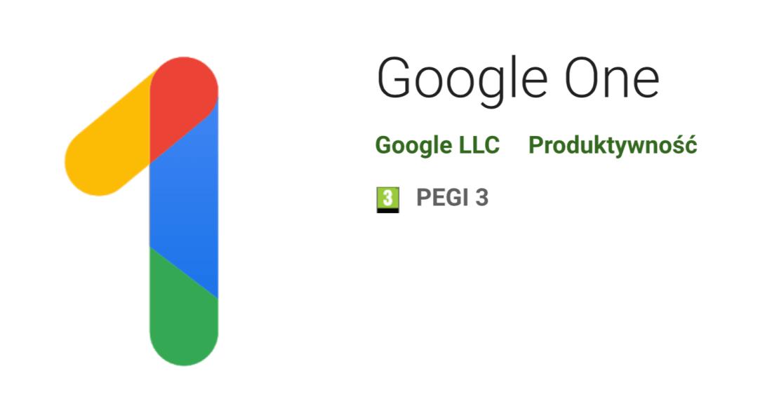 Google One na Androida (w sklepie Google Play)