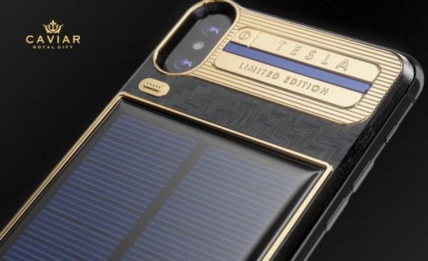 """Etui """"Tesla"""" dla iPhone'a X zasilane energią słoneczną"""