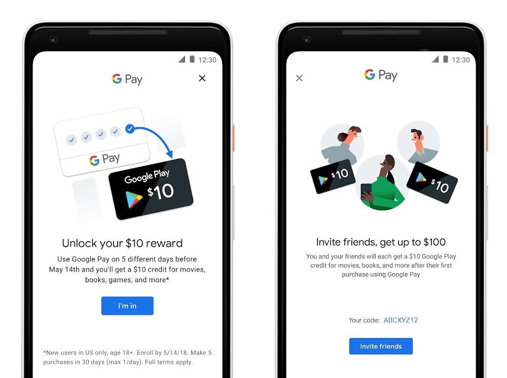 Promocje Google Pay