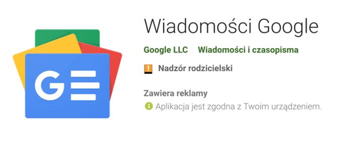 Aplikacja mobilna Wiadomości Google (Google News)