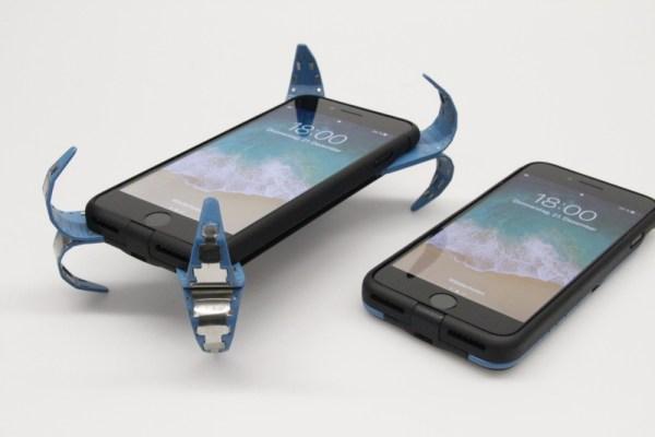Bezpieczne etui na iPhone'a, które rozkłada się podczas upadku