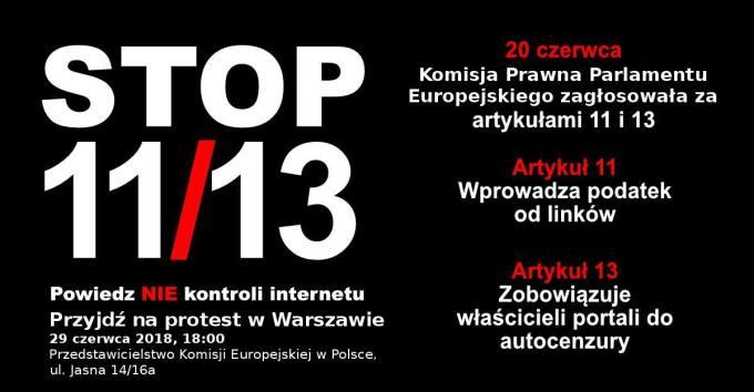 Delete Art. 11 i Art. 13 (#STOPACTA2)