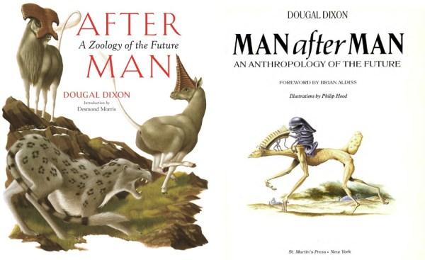 Te książki to pięknie zilustrowana ewolucja spekulatywna zwierząt i człowieka