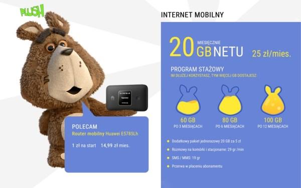 Nowa oferta Plush Internet ze 120 GB za lojalność!