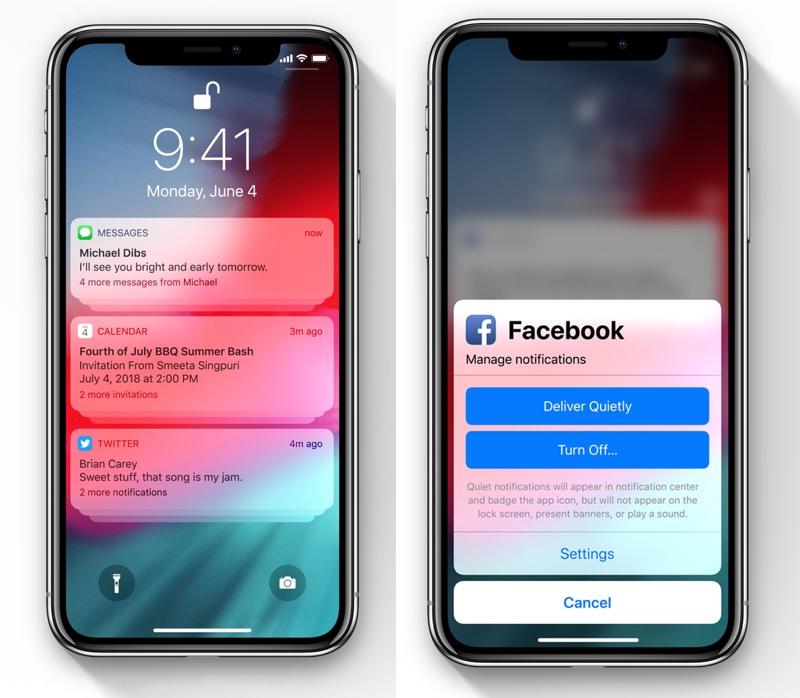 Powiadomienia pod iOS 12