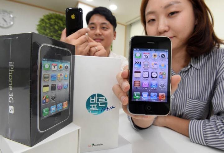 iPhone 3GS trafia do sprzedaży u koreańskiego operatora SK Telink (foto: Lee Dong-geun, ETNews)