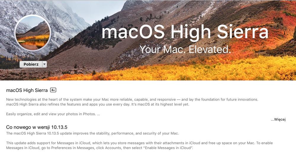 macOS High Sierra 10.13.5