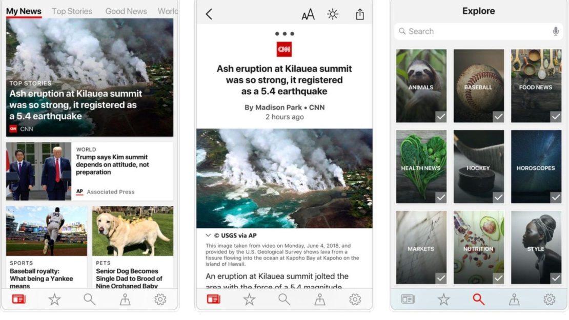 Microsoft News - aplikacja mobilna na iOS i Android