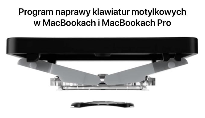 Program naprawy klawiatur motylkowych w MacBookach i MacBookach Pro