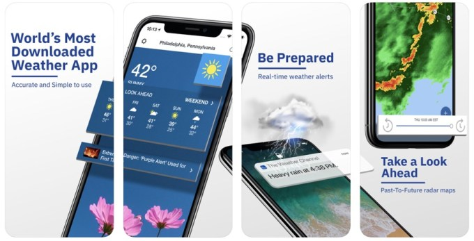 The Weather Channel: Tracker (zrzuty ekranu)