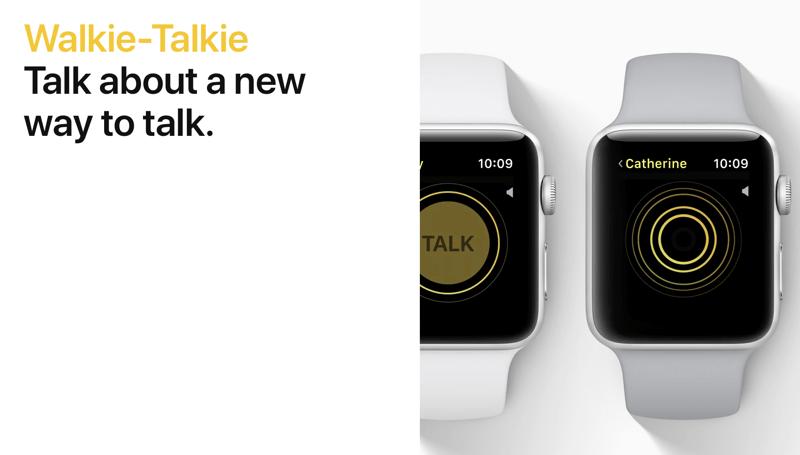 Walkie-Talkie na watchOS 5