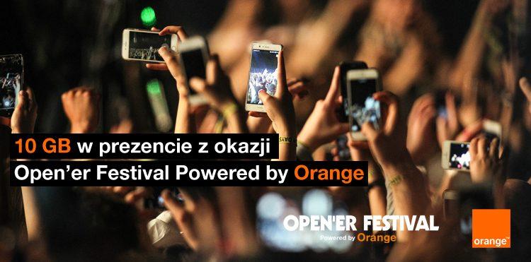 10 GB internetu od Orange z okazji Open'er Festival 2018